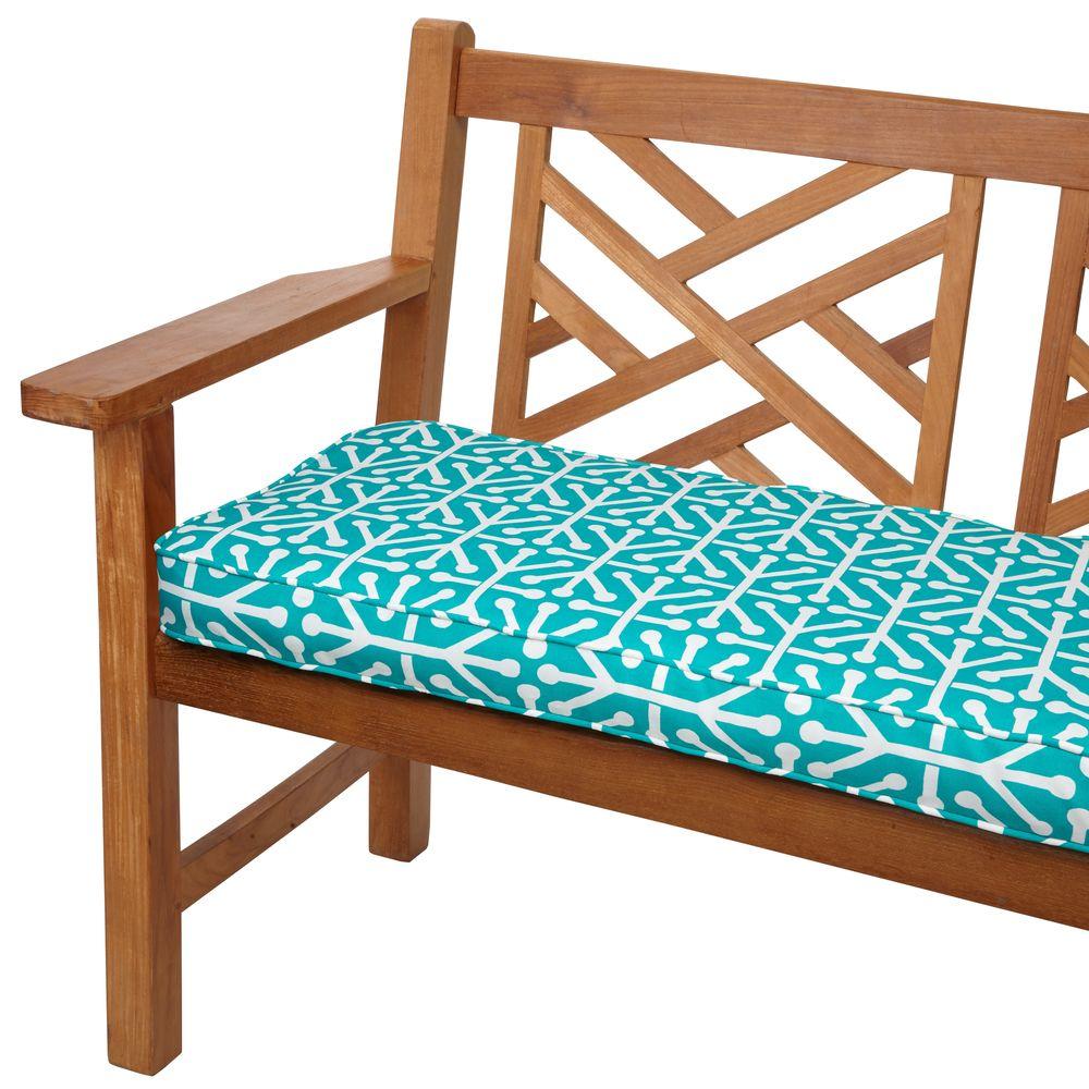 Dossett Teal 60-inch Indoor/ Outdoor Corded Bench Cushion - Overstock $85
