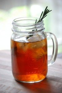 Rocklands Icy Peach Tea: Firefly, Peach Schnapps, Splash of Sprite, Splash of Cran, Sprig of Rosemary