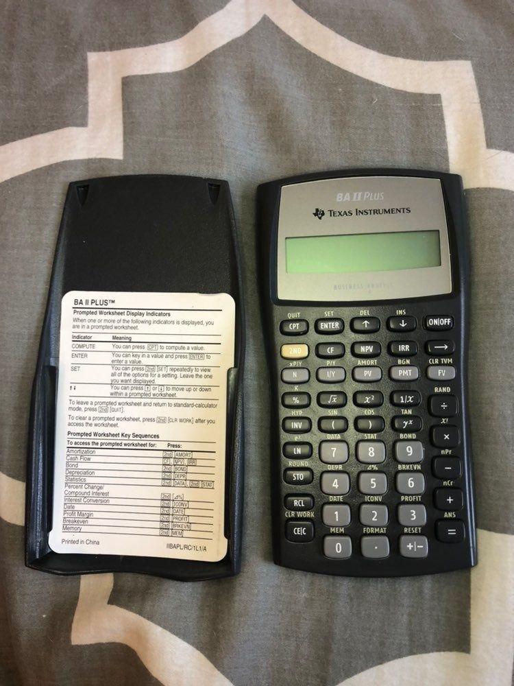 BA II Plus Texas Instruments Business Analyst Calculator