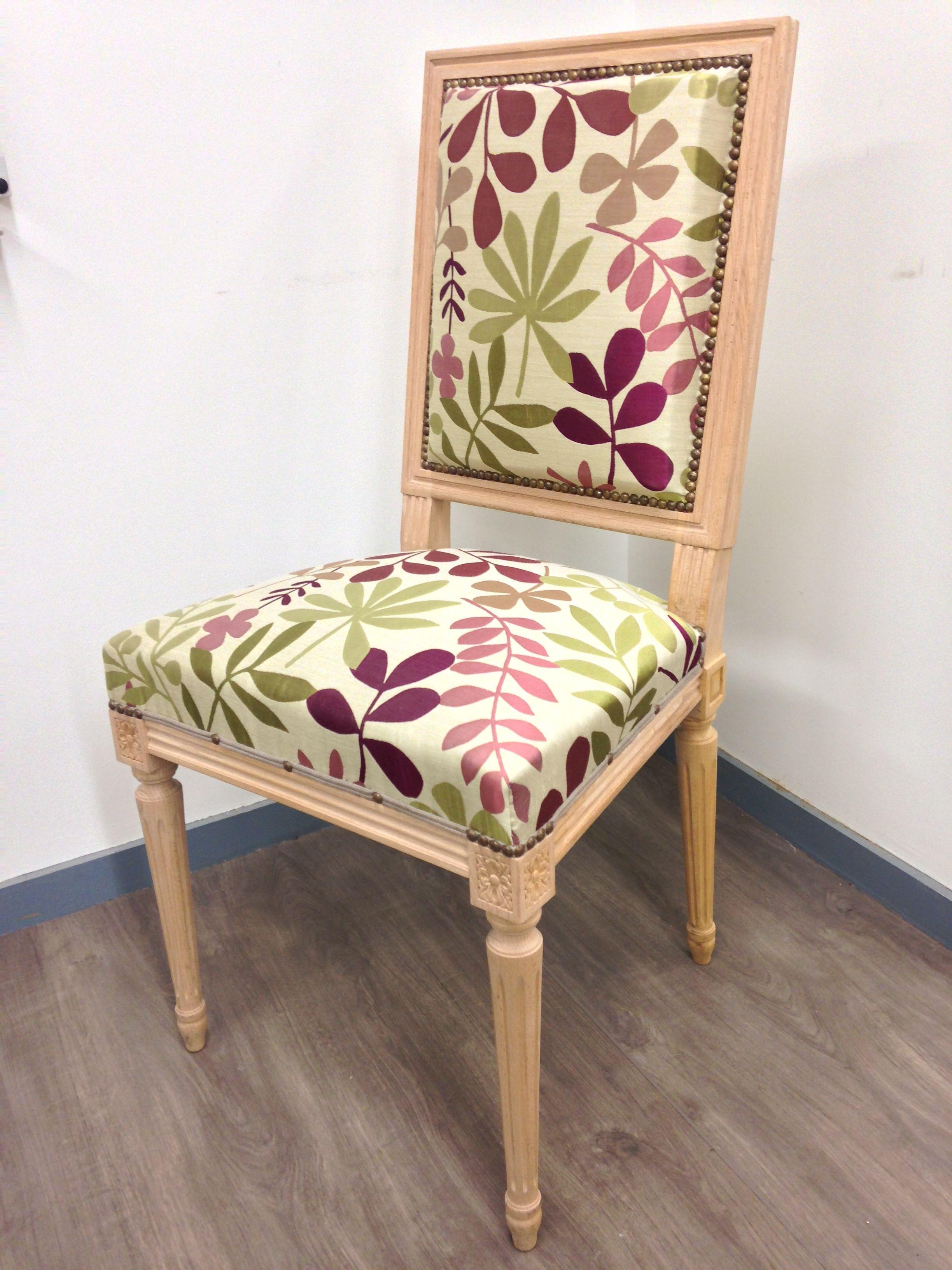 chaise jacob louis xvi trait e avec tissu motifs contemporains tapisserie les ateliers. Black Bedroom Furniture Sets. Home Design Ideas