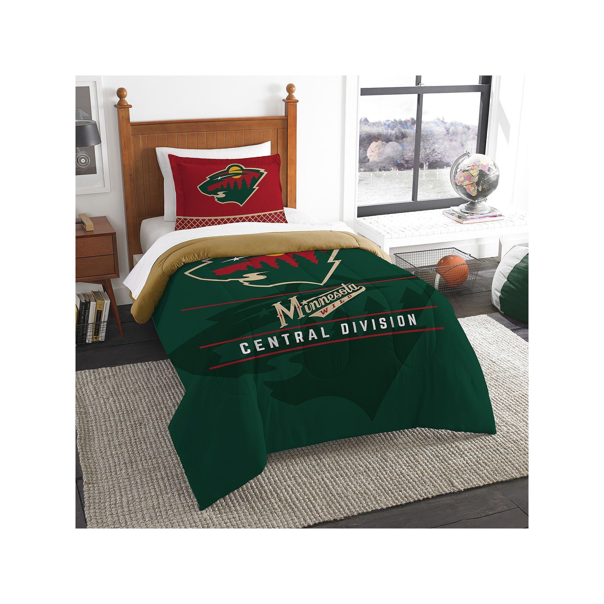 Minnesota Wild Draft Twin Comforter Set By Northwest Multicolor