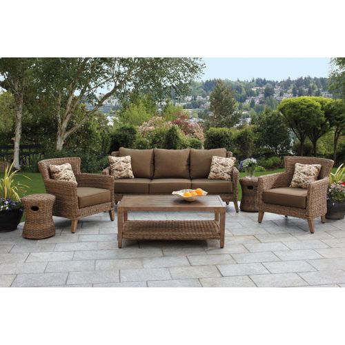 seagrass 6piece woven seating set from studio by brown jordan