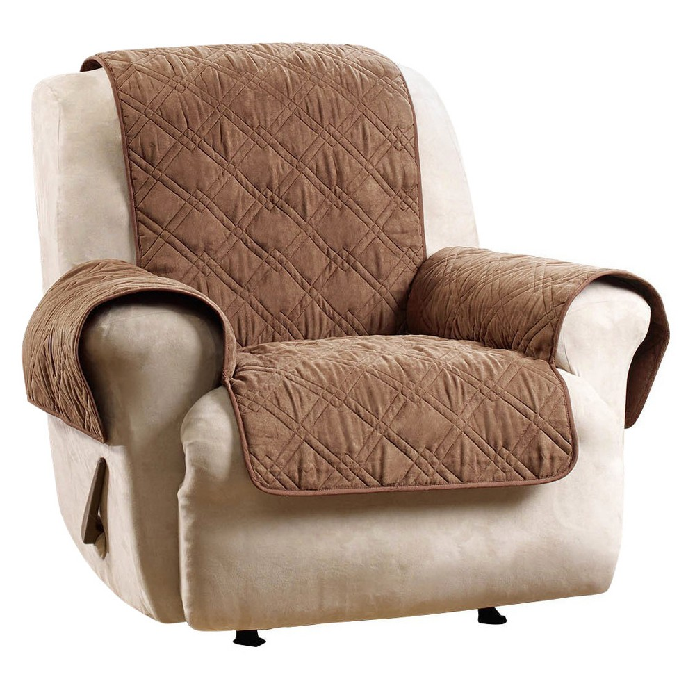 Recliner Slipcover Sure Fit Brown Recliner cover