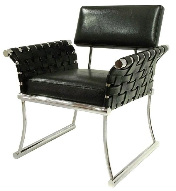 Best Bellini Modern Living Nyla Black Leather Accent Chair 400 x 300