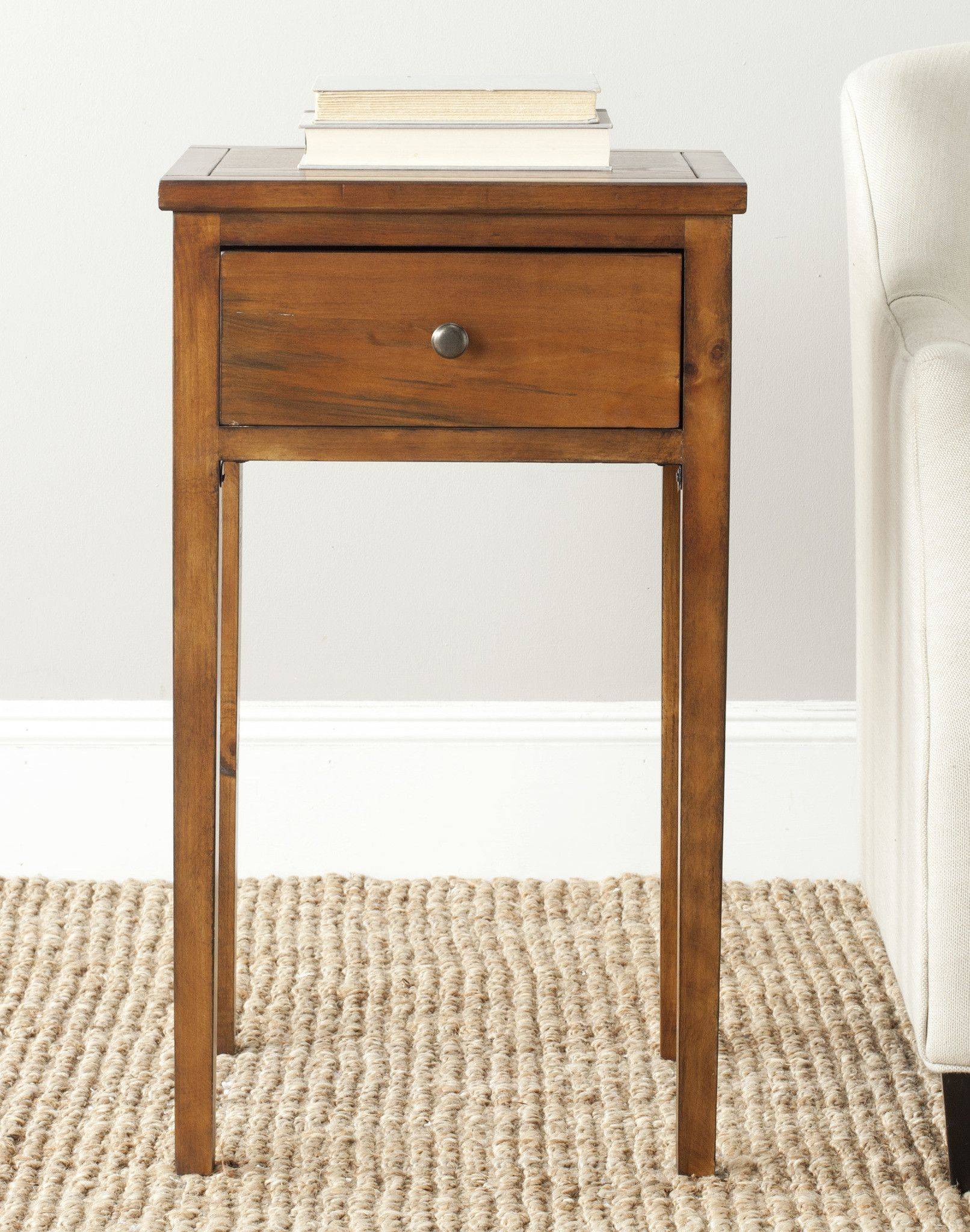 Safavieh Abel End Table With Storage Drawer   Bethroom ideas ...