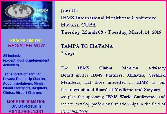 IBMS International Healthcare Conference Invite