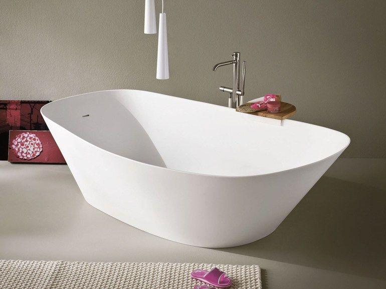 Vasca Da Bagno Freestanding Corian : Vasca da bagno centro stanza ovale in korakril™ fonte vasca da