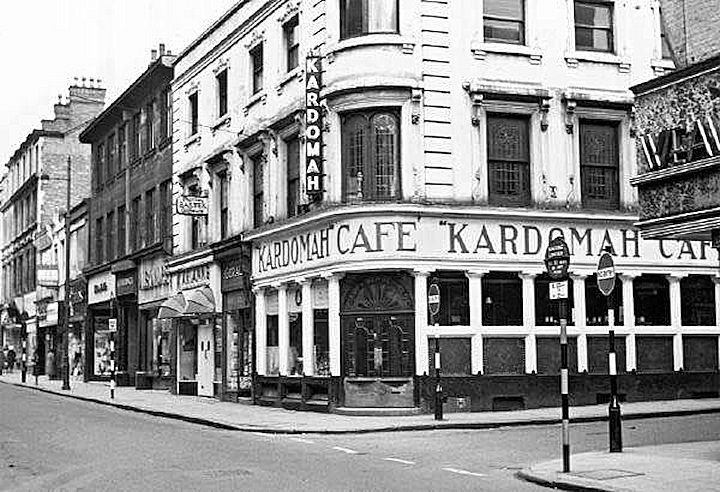 Kardomah Cafe, corner of Clumber Street and Lincoln Street, Nottingham,  c1960s. | Nottingham, Nottingham city, Street