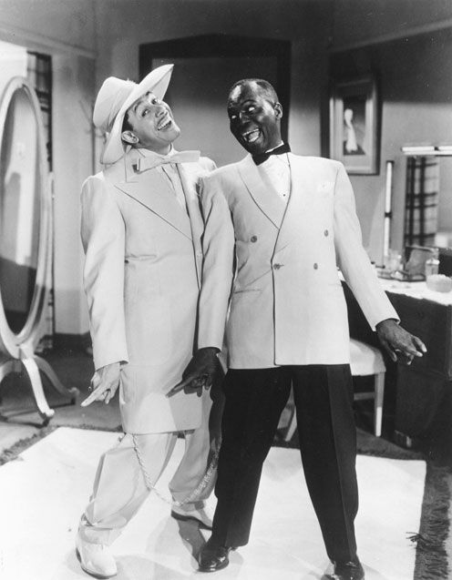 "Bill Bojangles Robinson and Cab Calloway in scene from ""Stormy Weather"" 1943."