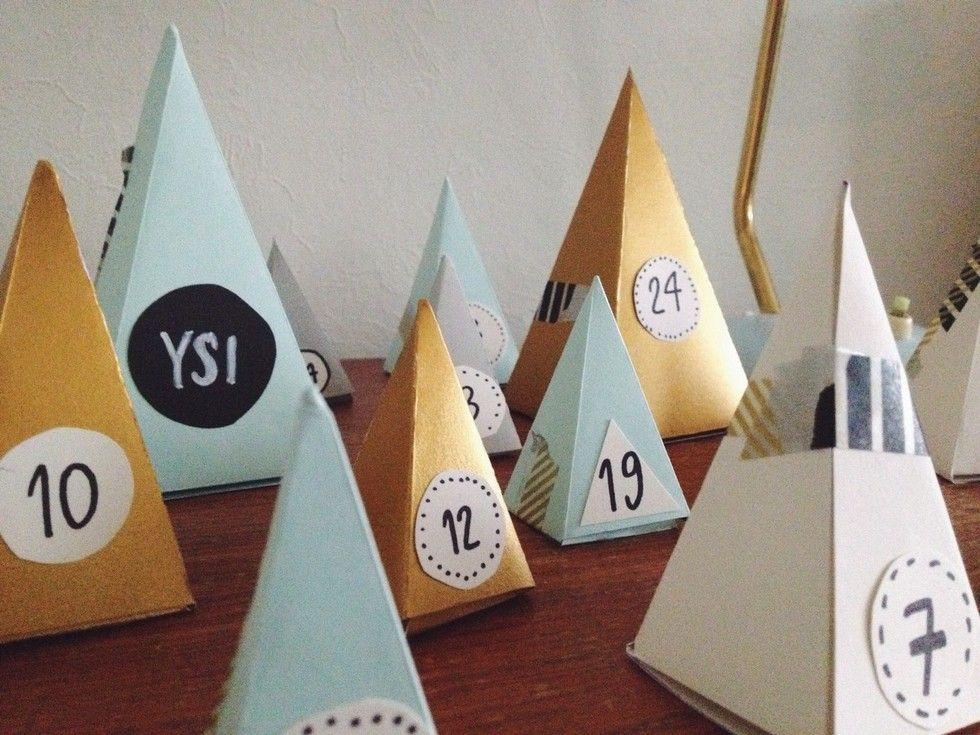 Joulukalenteritalkoot - Paperikaupan tyttö | Lily.fi