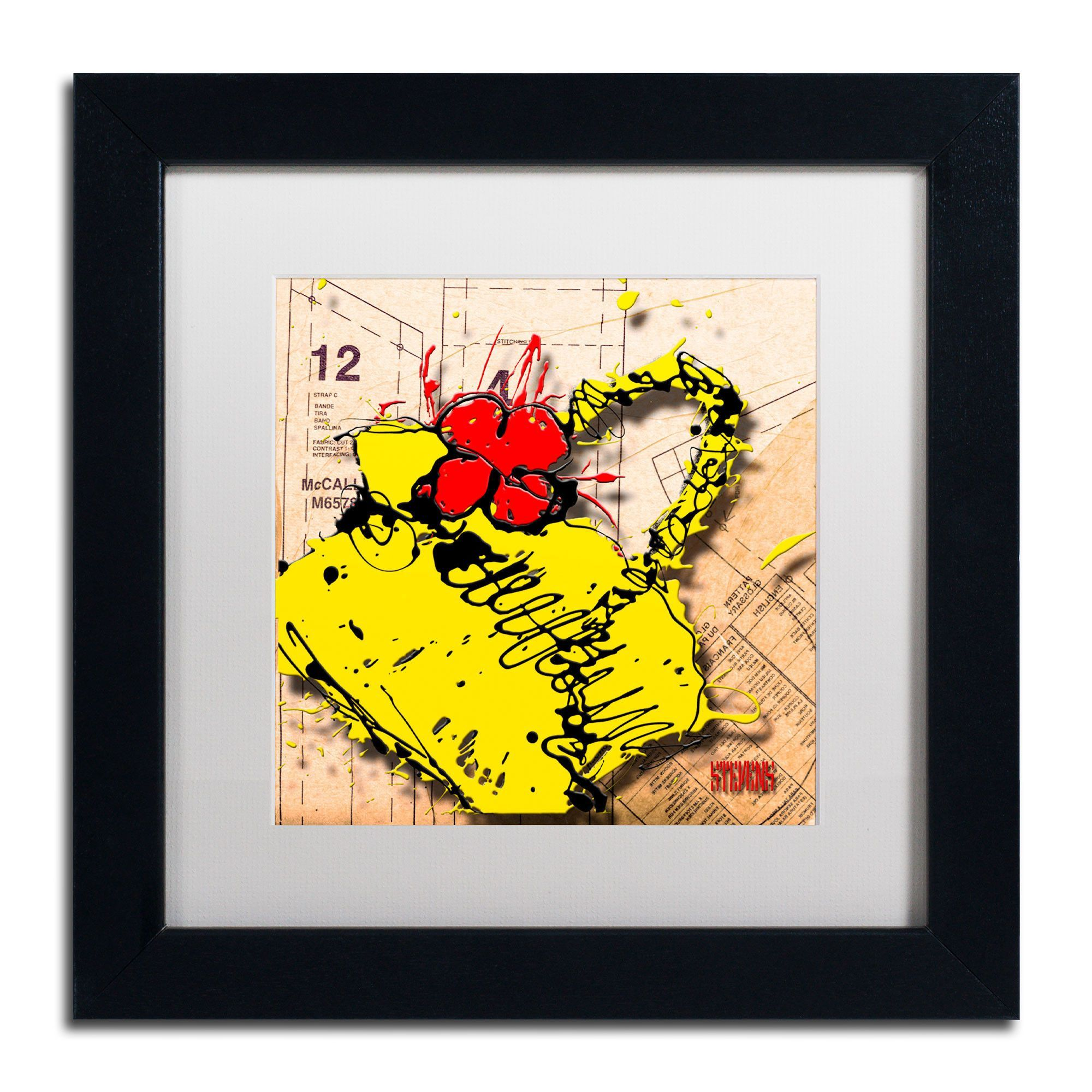 Flower Purse Red on Yellow\' by Roderick Stevens Framed Graphic Art ...