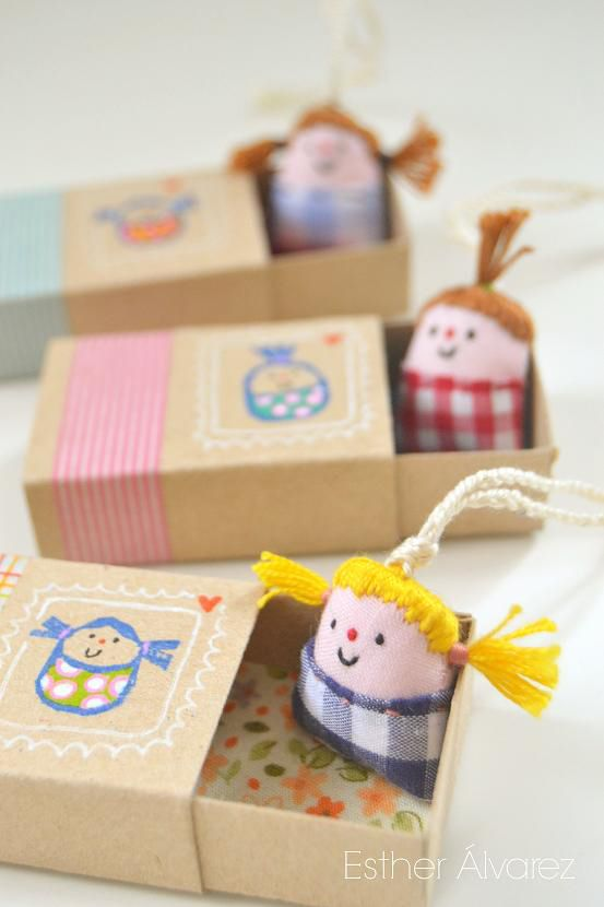 MAKE TINY DOLLS IN LITTLE BOXES #dollscouture