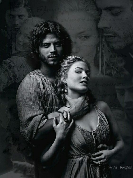 Cesare And Lucrezia Borgia From The Borgias Lucrezia Borgia