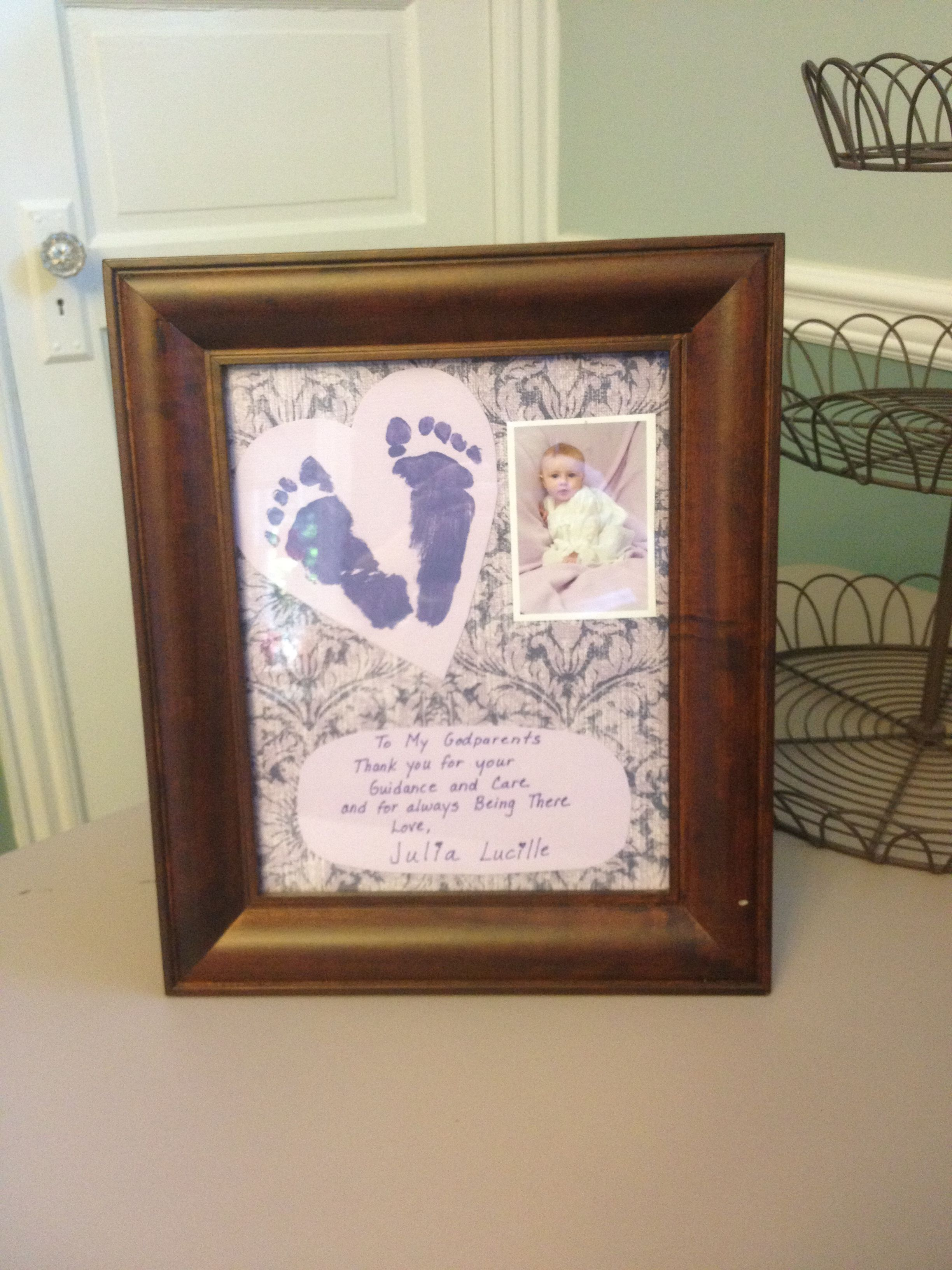 Godparent gift...made something like this for Audra\'s godmother ...