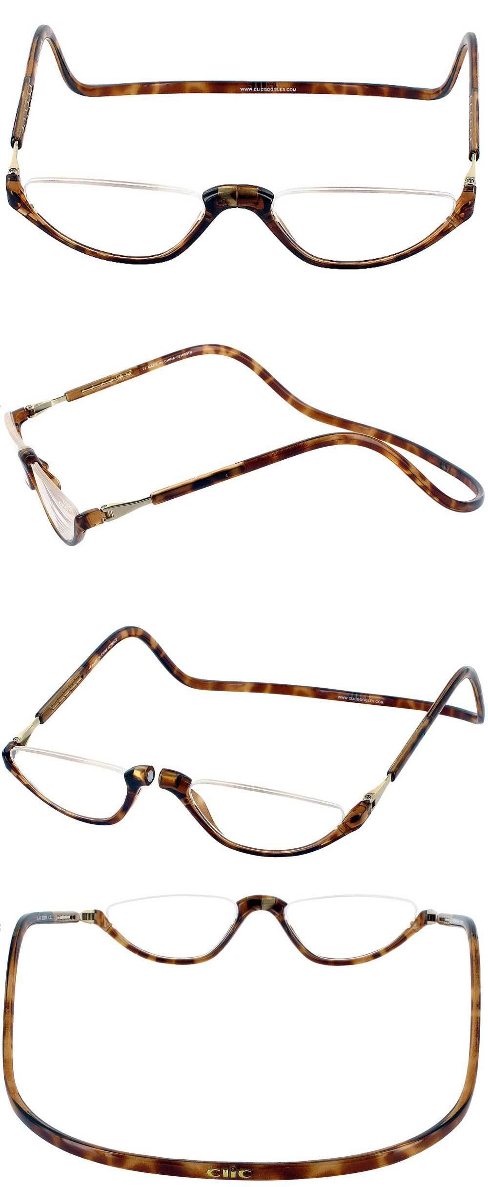 77a12effdf Reading Glasses  Clic Snap Magnetic Half Eye Neck-Hanging Readers  Tortoise  1.25 To 3.00 -  BUY IT NOW ONLY   34.95 on eBay!