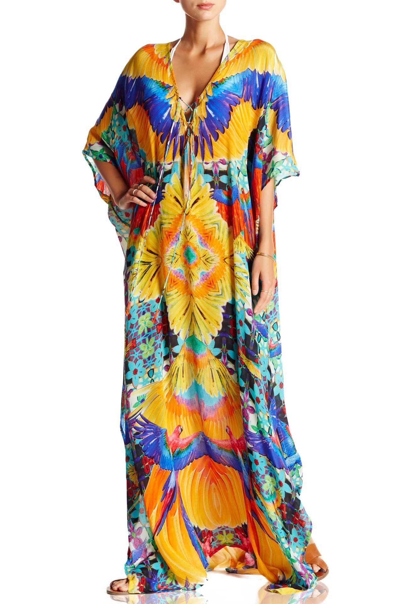 22ed97ebe6 Tropical Parides Long Kaftan Dress in 2019 | Products | Long kaftan ...