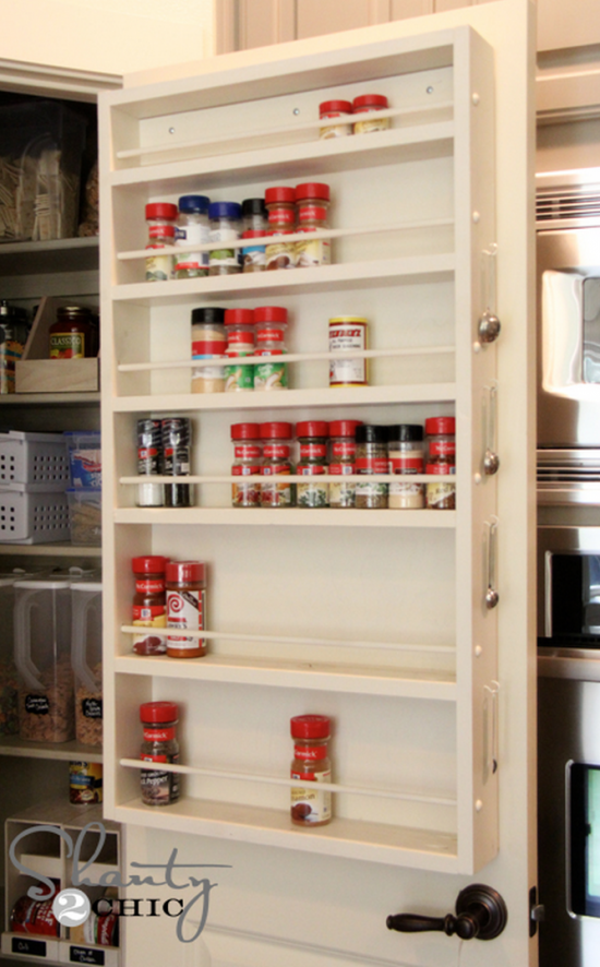Pantry Door Spice Rack Makeover Http://thewhoot.com.au/whoot