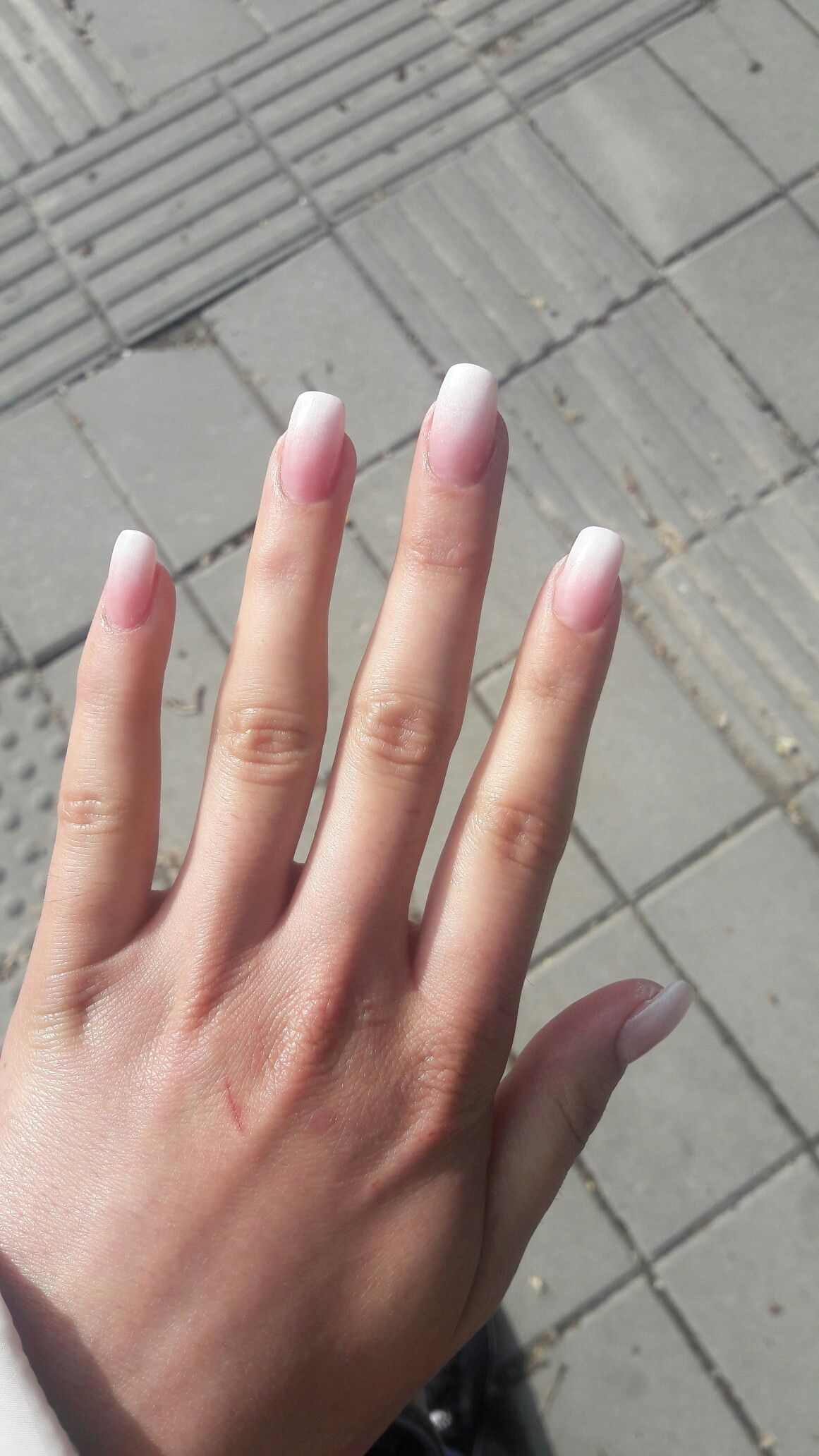 Milky Ombre French Nails