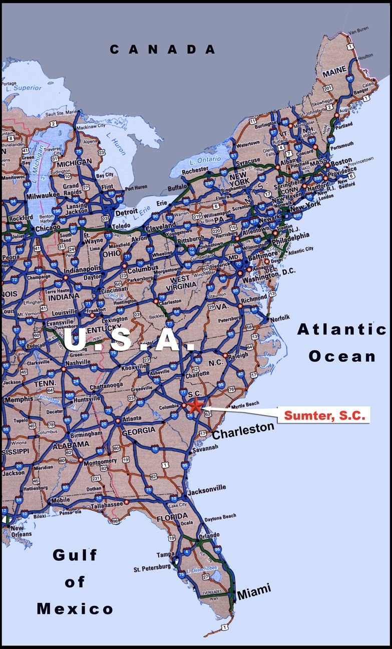 Road Map Of Eastern Us States Fahren Karte Des Östlichen USA Ian Nordosten Der Usa | City road