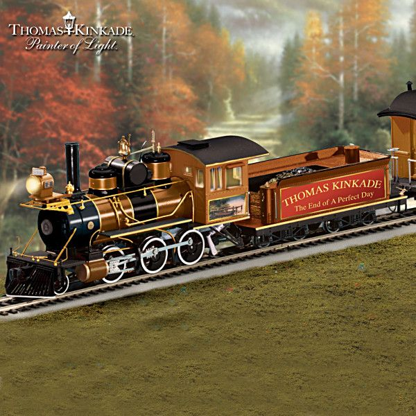 Thomas Kinkade End Of A Perfect Day Express Train Collection