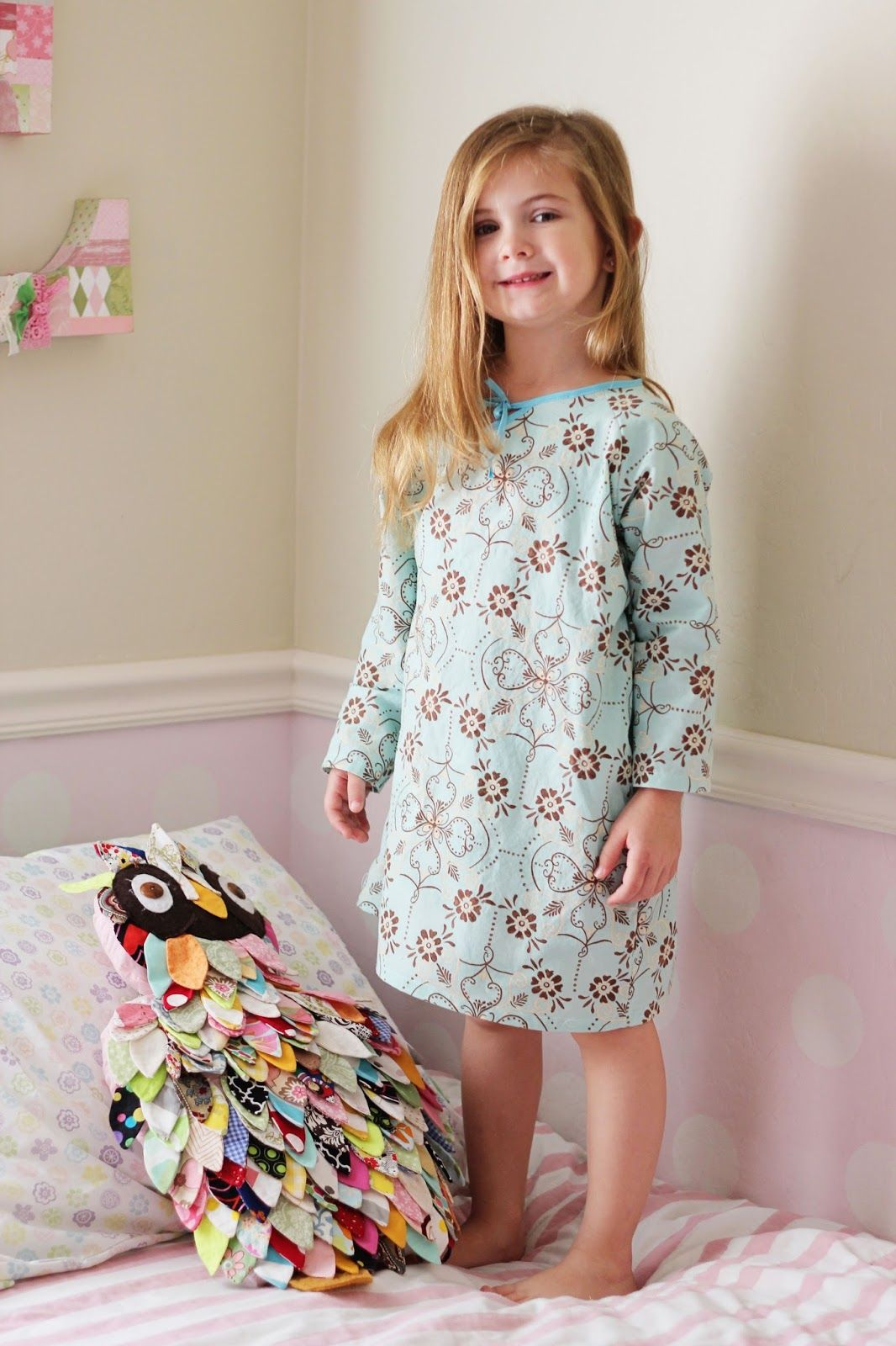 Seamingly Smitten: Nightgown sewing pattern for girls! Easy PDF ...