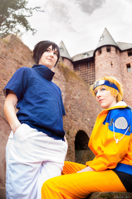 Naruto and Sasuke Cosplay