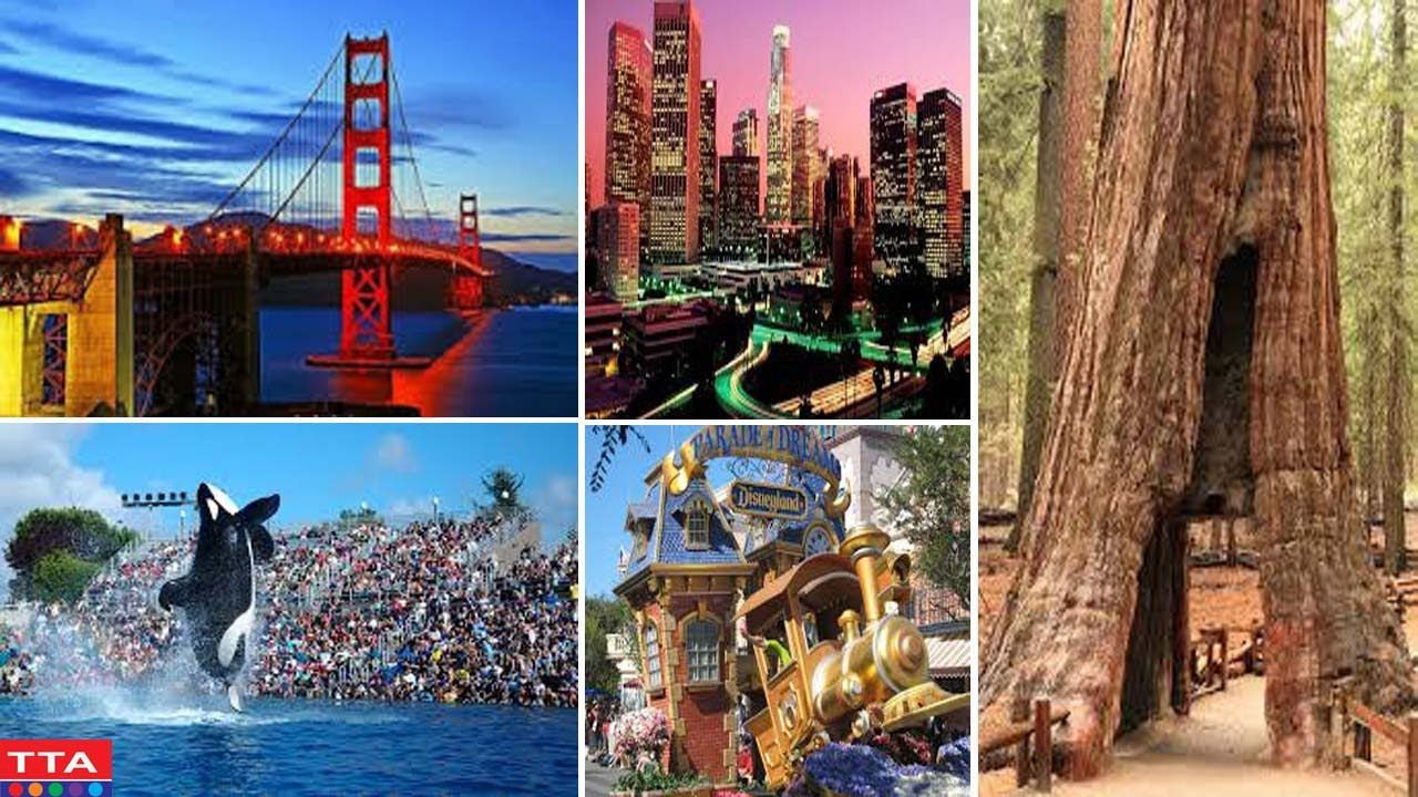 Top 10 Tourist Attractions In Usa Best Destinations In California California Tourism Video Tourist Attractions In America Travel Travel Pictures