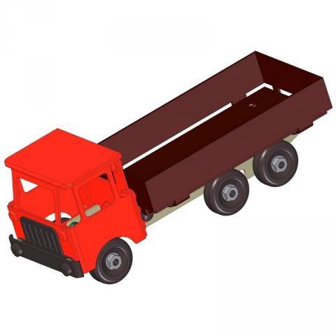 Sheet-metal lorry model plan
