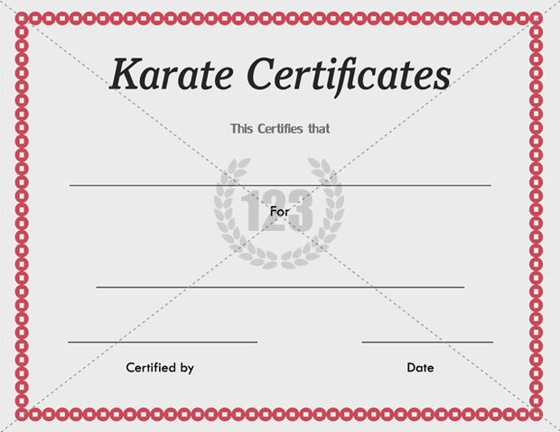 karate certificate templates free and premium 123certificatetemplates certificate templates