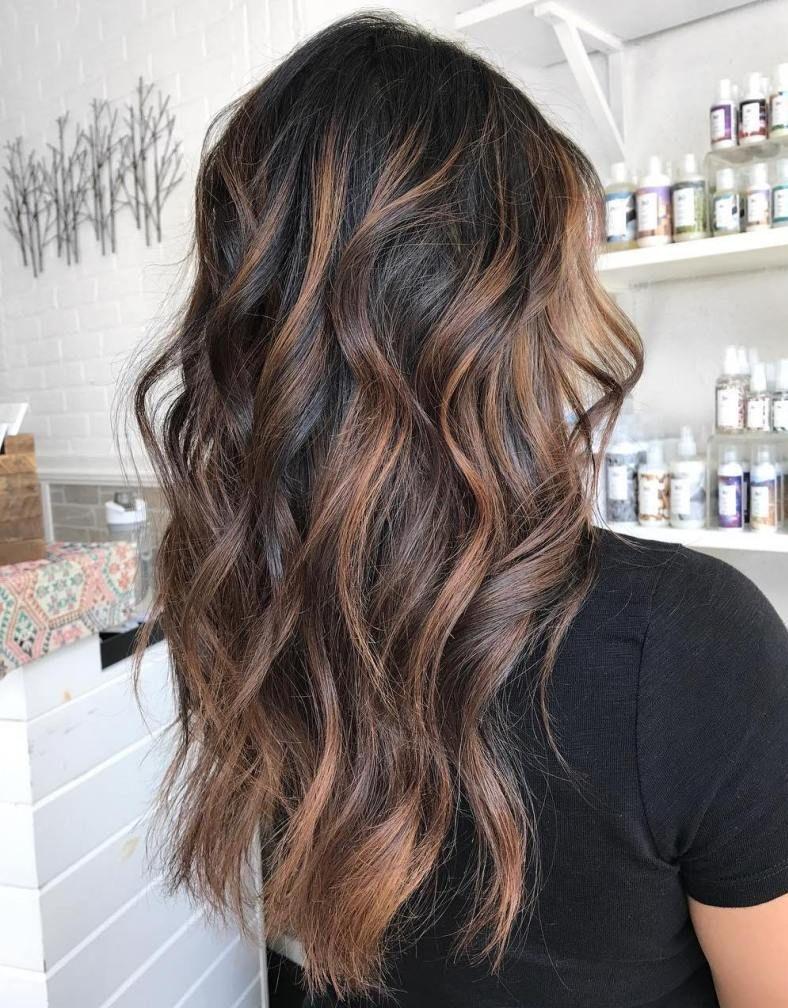 50 Dark Brown Hair With Highlights Ideas For 2019 Hair Adviser Brown Hair With Highlights Hair Highlights Dark Hair With Highlights