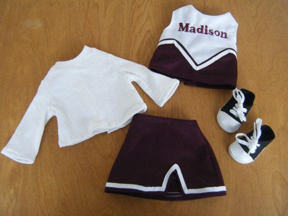 Custom Uniform: Matching 18 inch Doll Clothes - American Girl Clothes, 18 inch doll accessories, Gift for Girl, Cheerleader, Cheerleading on Etsy, $13.11 CAD #18inchcheerleaderclothes Custom Uniform: Matching 18 inch Doll Clothes - American Girl Clothes, 18 inch doll accessories, Gift for Girl, Cheerleader, Cheerleading on Etsy, $13.11 CAD #cheerleaderuniform Custom Uniform: Matching 18 inch Doll Clothes - American Girl Clothes, 18 inch doll accessories, Gift for Girl, Cheerleader, Cheerleading #18inchcheerleaderclothes