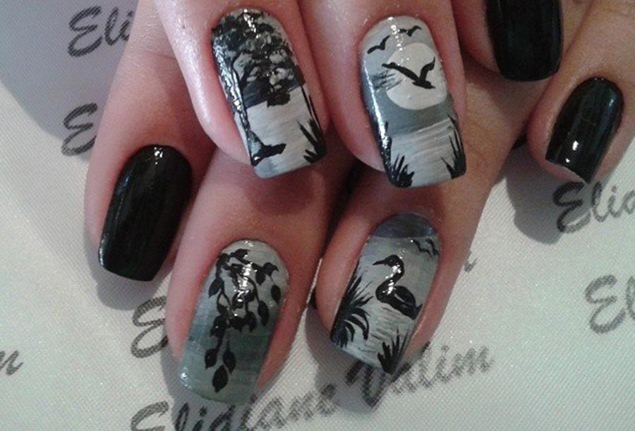 Four Black Nails Designs | trendsbyte