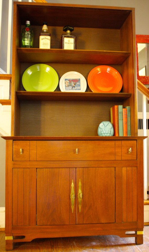 Vintage Mid Century Modern Dining Hutch MCM By LuckySevenVintage, $499.00