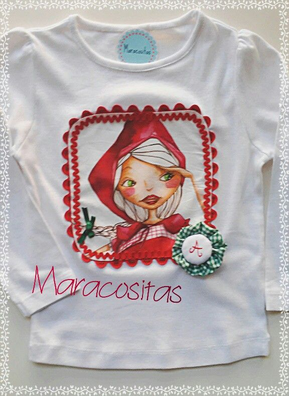 Handmade tshirt by Maracositas www.facebook.com Maracositas Apliques a775506b83fa4