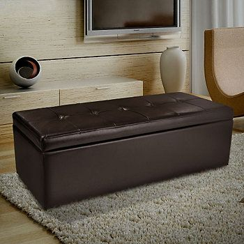 Christopher Knight Home™ Abigail Brown Leather Storage Ottoman