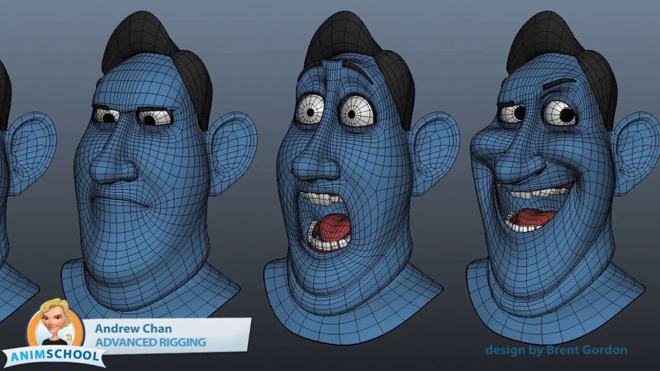 Animschool modeling and rigging student showcase