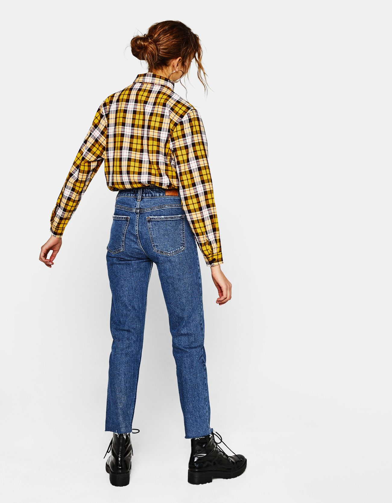 8ad5cb0ae88c High waist cropped straight-leg jeans. Discover this and many more items in  Bershka with new products every week