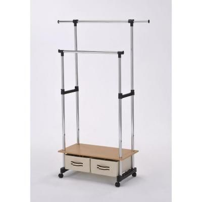Home Depot Garment Rack Best Double Lever Coat Rack With Storagenh4123 At The Home Depot  New Inspiration