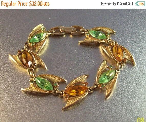 20% Off Vintage Rhinestone Bracelet Jetsons by LynnHislopJewels