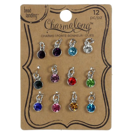 Charmalong Crystal Gems Charms By Bead Landing Crystal Bead Jewelry Bead Landing How To Make Earrings