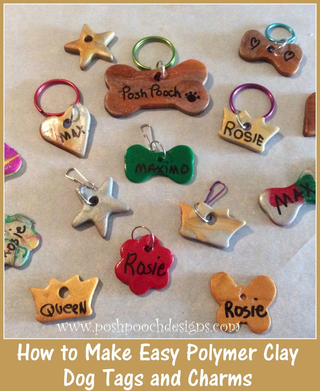How I Make Easy Polymer Clay Dog Tags Posh Pooch Designs Easy
