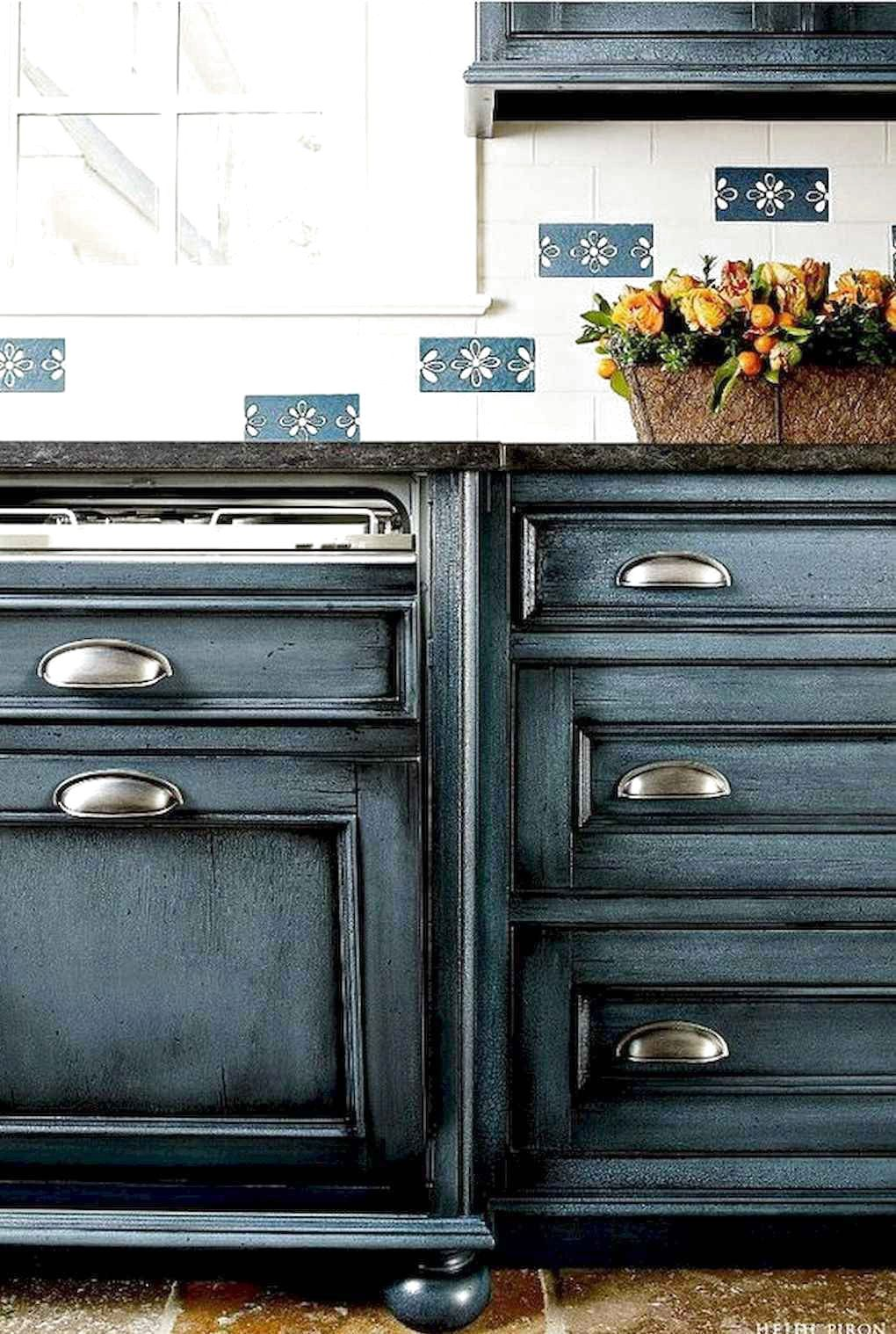 Favorite Farmhouse Kitchen Cabinet Design Ideas Exp Decor In 2020 Painted Kitchen Cabinets Colors Navy Kitchen Cabinets Blue Kitchen Cabinets