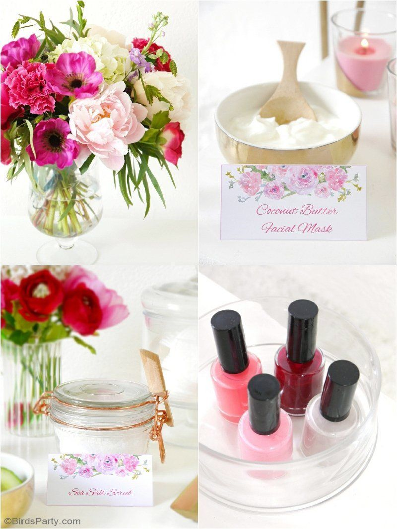 A Relaxing Home Spa Party For Mother S Day Spa Party Mother S