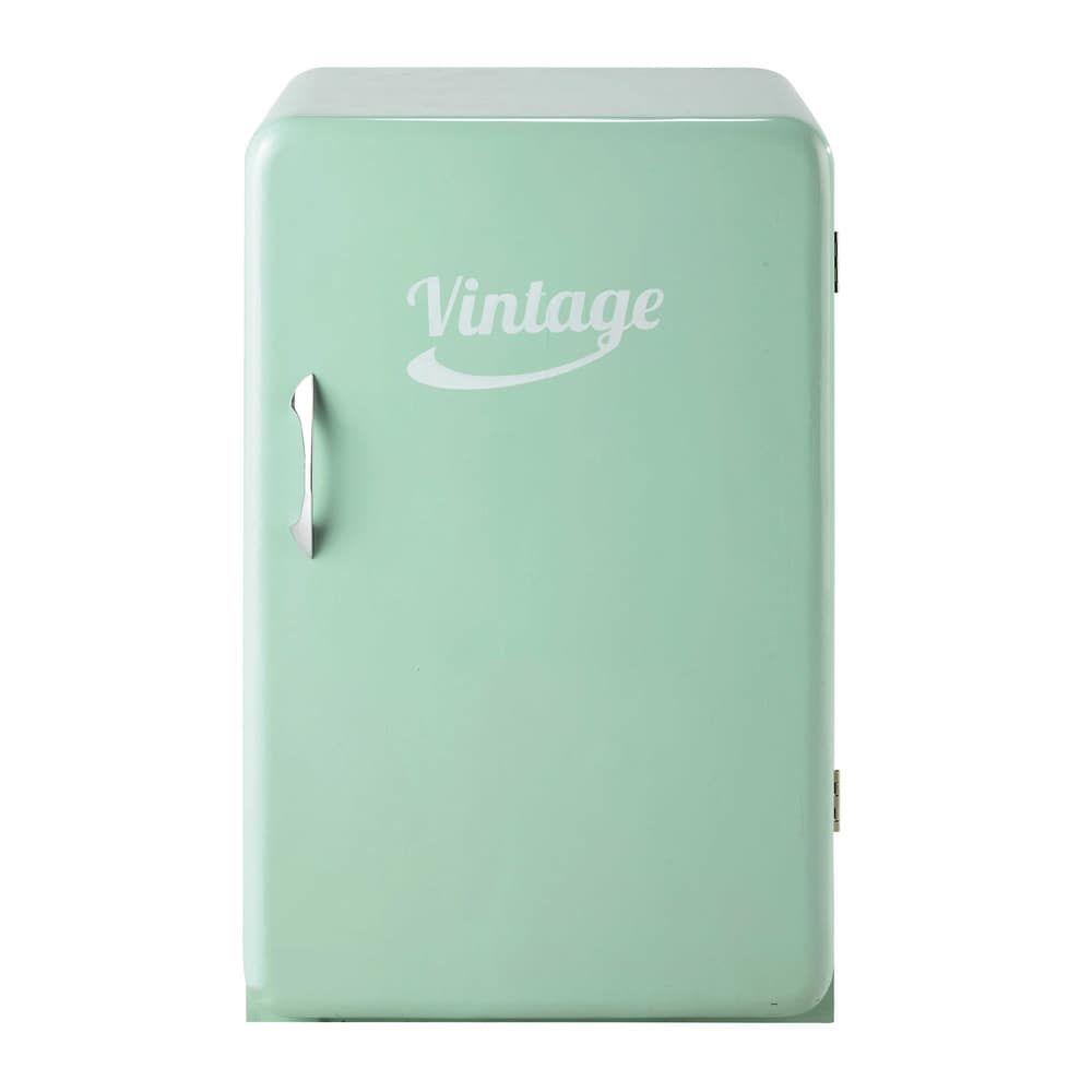 Anrichte im Vintage-Stil und Kühlschrank-Look, B 55 cm, mintgrün ...