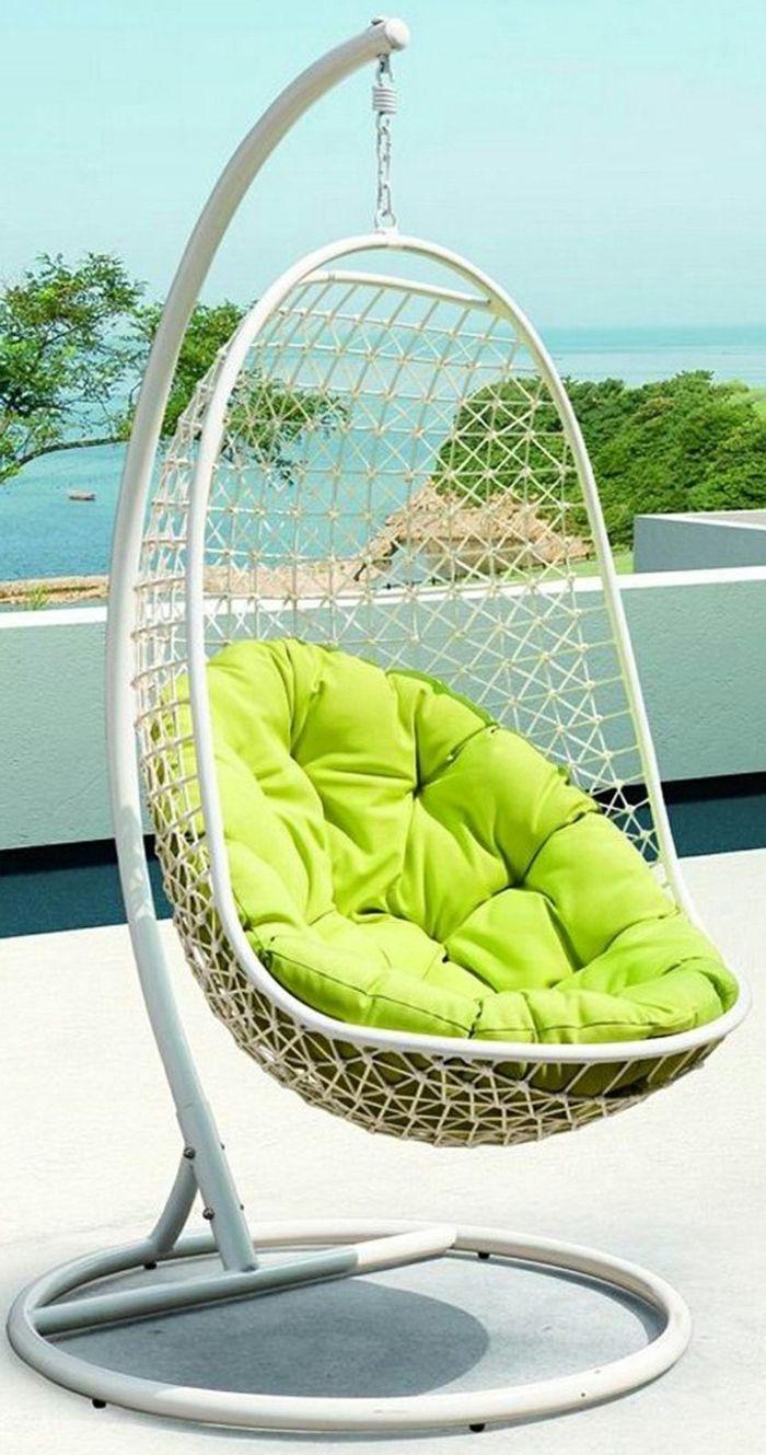 Balancelle de jardin pour cr er une d co parfaite lanternes et fauteuils rotins sillas de - Siege suspendu salon ...