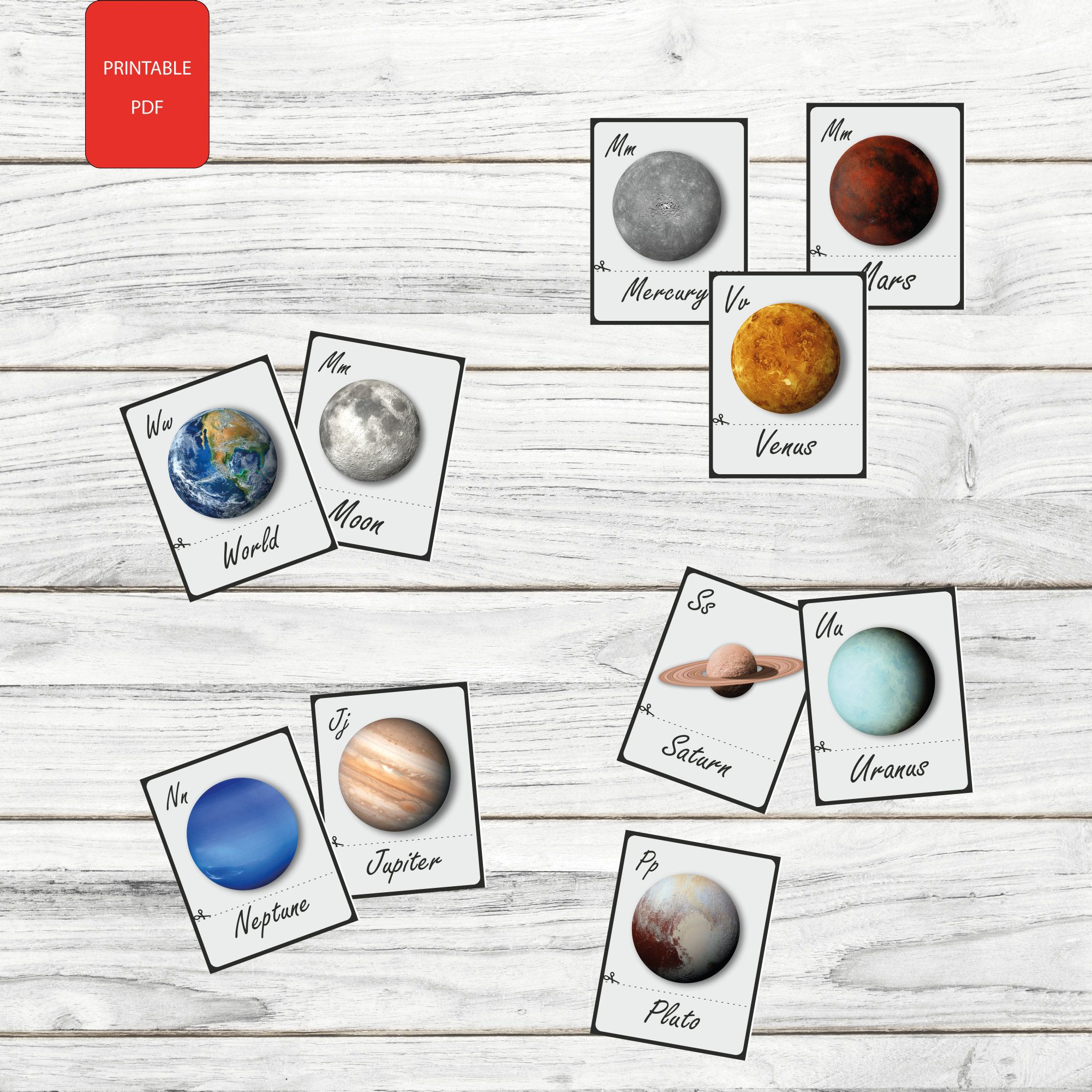10 Printable Cuttable Solar System Planet Cards Flash Cards Naming Cards Pdf Printable Cards Preschool Toys By Art In 2021 Flashcards Solar System Planets Solar System [ 2001 x 2001 Pixel ]