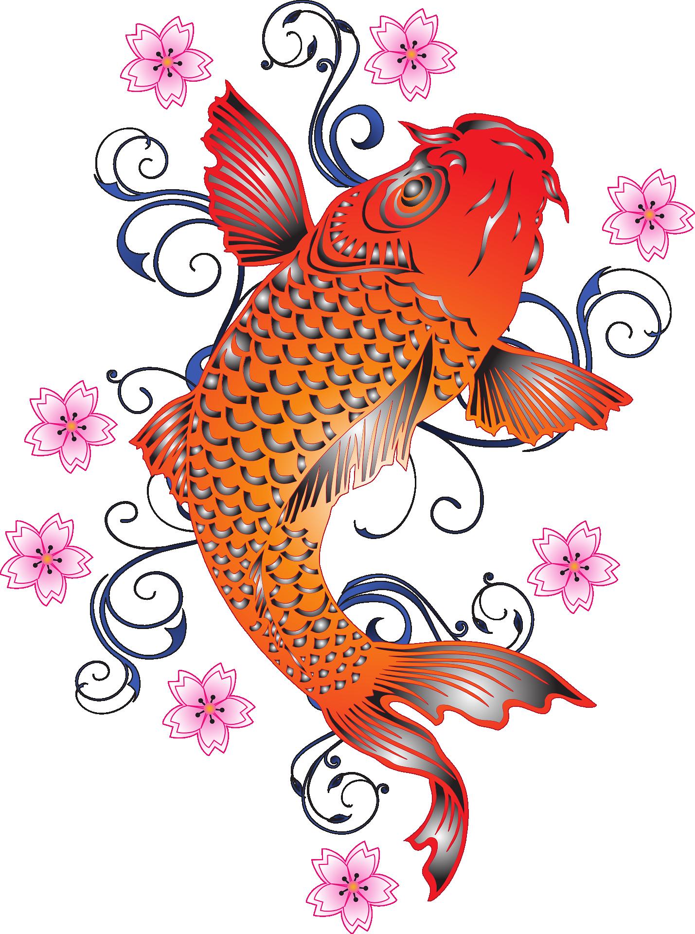 Koi Fish Sticker Design Element Free Image By Rawpixel Com Noon Koi Fish Designs Koi Fish Drawing Fish Graphic