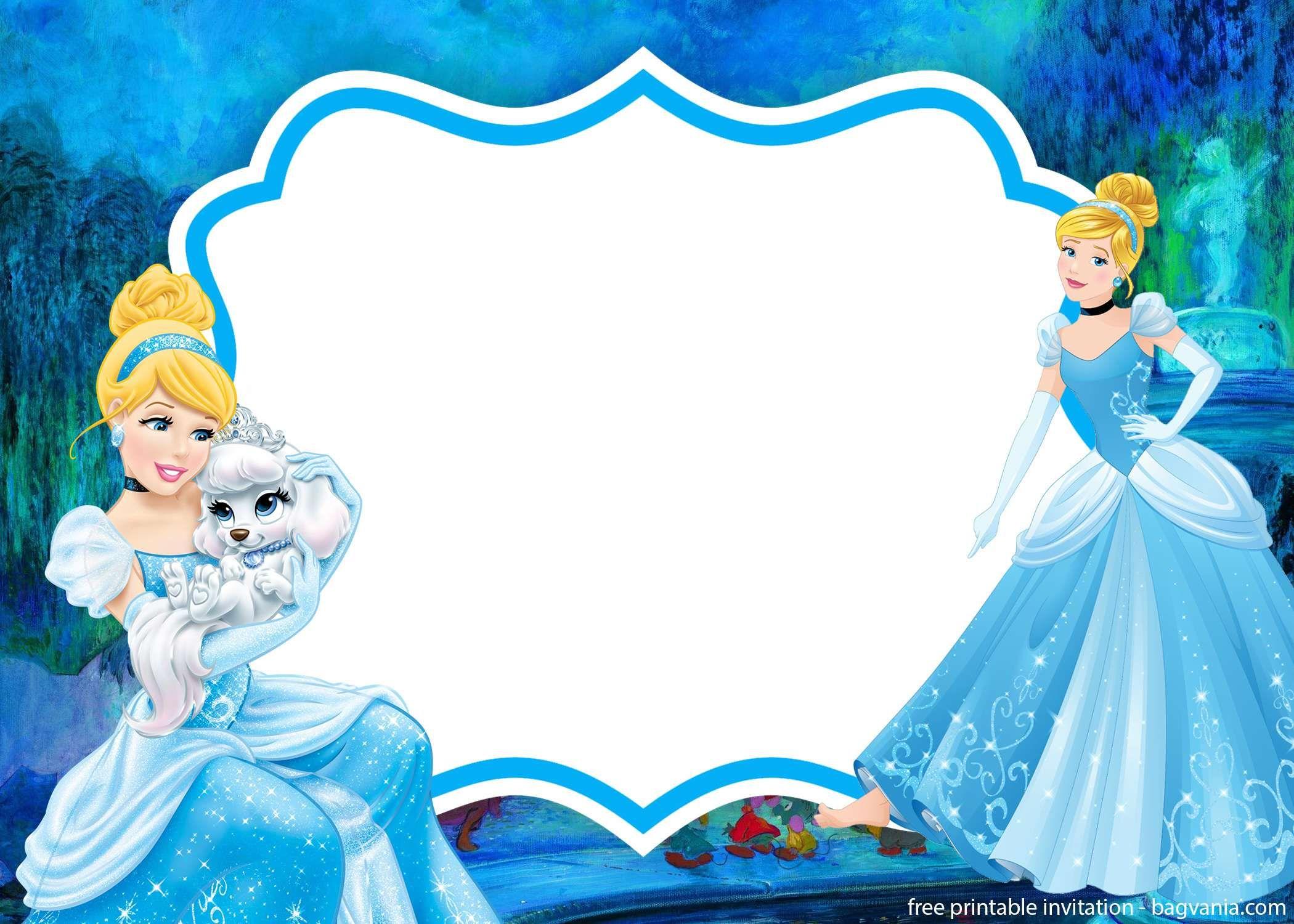 Free Printable Cinderella Invitation Template Cinderella Invitations Printable Birthday Invitations Birthday Card Template