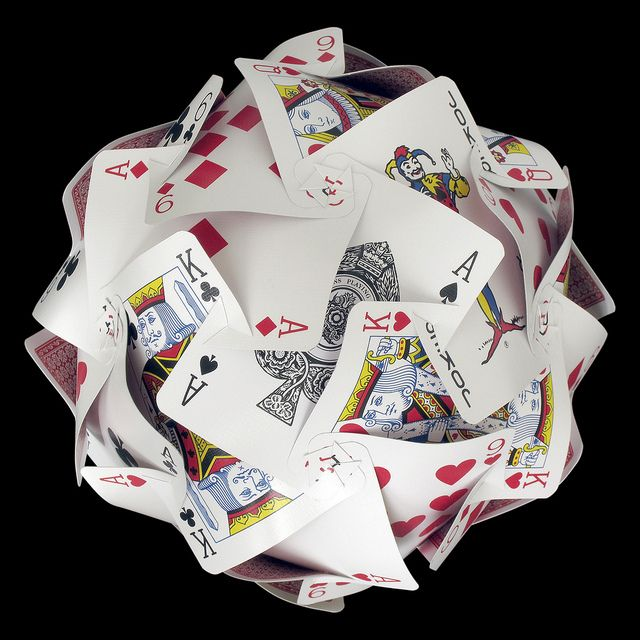 Playing cards sphere slotted playing cards slot and decoration playing card crafts colourmoves Choice Image