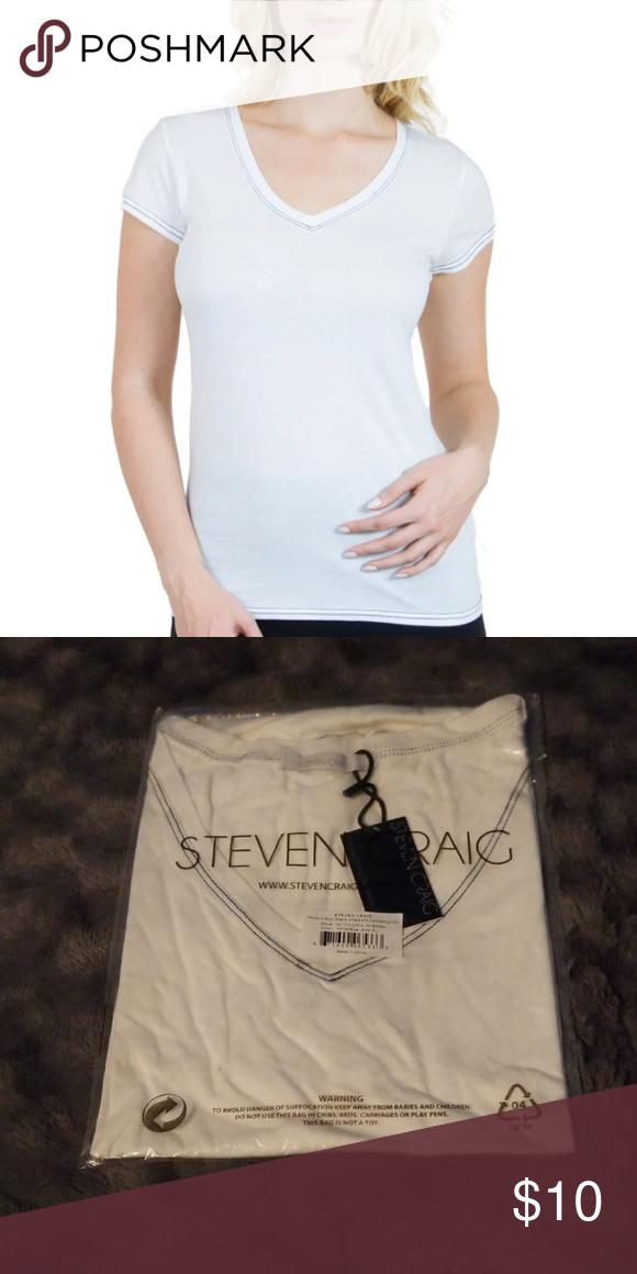 513cf3c749f2 Steven Craig Pima Cotton SS Tshirt NWT, XL Women's Steven Craig Short  Sleeve V Neck